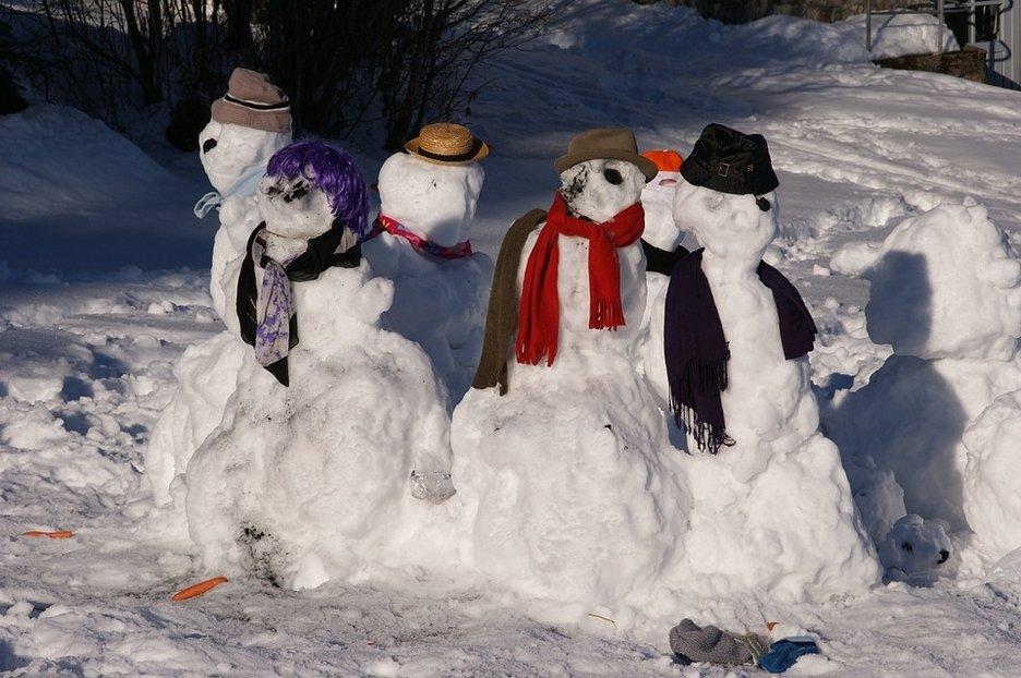 muñecos nieve