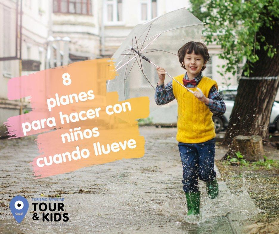 Planes con niños cuando llueve