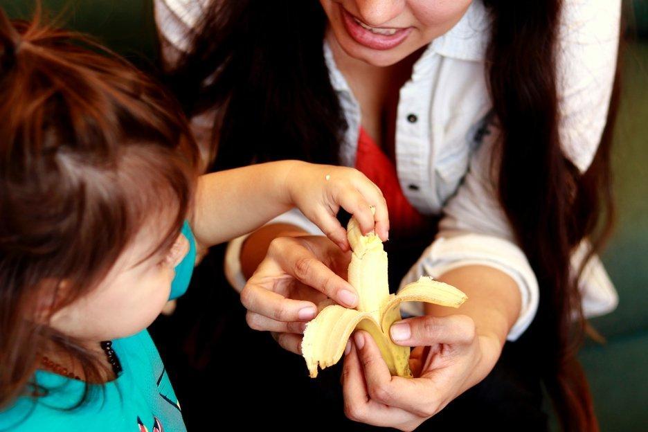 Plátanos con mensaje