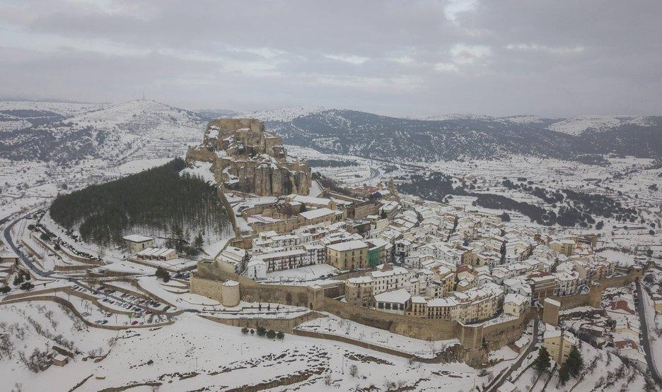 Nieve en Morella